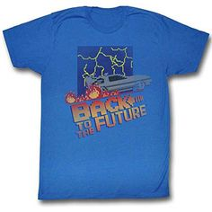 Back To The Future Mens NES Cover T-shirt X-Large Royal @ niftywarehouse.com #NiftyWarehouse #BackToTheFuture #Movie #Film #Movies #Gifts