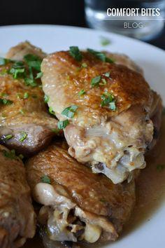 AIP autoimmune protocol slow cooker garlic tarragon chicken