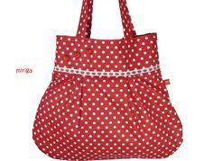Schultertasche Rot-Weiß mit Erdbeeren N° 2 von miriga auf DaWanda.com
