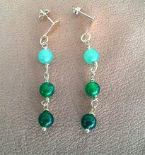 Aretes de jade $15