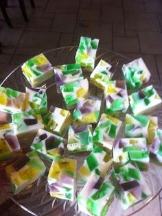 Mardi Gras jello shots...