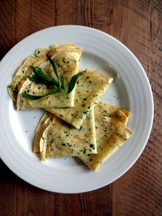 Two of a Kind | Savory Crepes With Fresh Herbs | http://www.twoofakindcooks.com