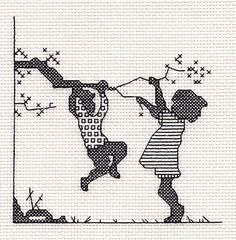 Playtime Blackwork Kit by Classic Embroidery