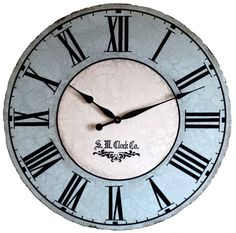 24 inch North Haven Large antique style Wall Clock by Klocktime
