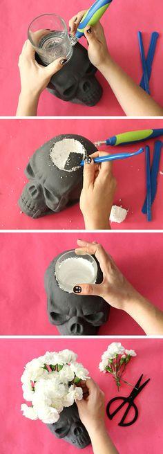 DIY Skull Vase and H