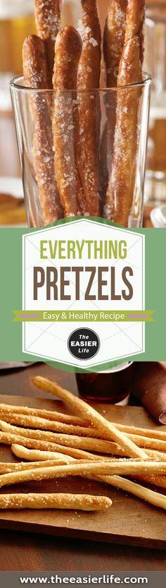Everything Pretzels - The Healthy Keto Recipe Easy Healthy Recipes, Keto Recipes, Easy Meals, Cooking Recipes, Healthy Food, Healthy Pretzels, Pretzels Recipe, Popular Recipes, Great Recipes