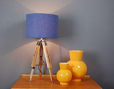 Harris Tweed Herringbone Tripod Table Lamp