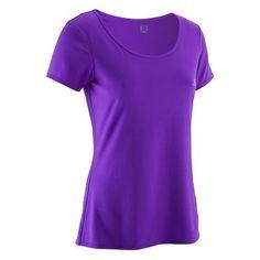 24,99 Odziez damska fitness Fitness, Taniec, Gimnastyka - Koszulka do fitnessu Breathe DOMYOS - Odzież fitness