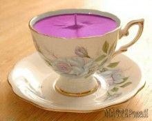 Свеча из чашки
