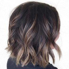 Wavy+Brown+Balayage+