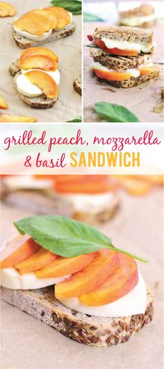 Grilled peach, mozzarella and basil sandwiches {vegetarian} | www.ricottaandradishes.com