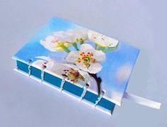 Blue Sakura Journal Cherry Blossom Notebook Sketchbook | Etsy Cherry Blossom, Notebook, Journal, Handmade, Blue, Etsy, Hand Made, Journal Entries, Craft