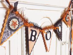 BOO Halloween Banner  Party and Home by WhateversHandmades on Etsy, $18.50
