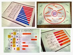 Tunstall's Teaching Tidbits: Making Ten Freebies and Our Self Portrait Gallery Math Classroom, Kindergarten Math, Teaching Math, Math Tutor, Classroom Setup, Teaching Ideas, Math Resources, Math Activities, Math Strategies