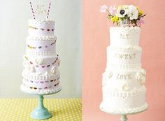 Pretty summer wedding cakes as featured on CakeGeek.co.uk