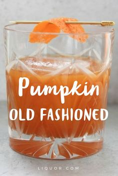 Pumpkin is here and it's time to incorporate it in your #cocktails! The #pumpkin adds a bit of spice without adding too much sweetness. This fall upgrade to the classic Old Fashioned will really get you feeling the holiday season!