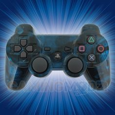 Our Blue Ghost Skulls rapid fire modded controller is now available for Playstation 3. It features our ghost skulls pattern in blue with a custom clear coat finish. This controller is available for immediate order exclusively at GamingModz.com.