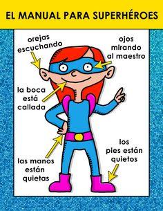 "Superhero Classroom Posters – FREE D Eustaquio Dorner /// edit ""teacher"" to monitor & you have a workplace hero Superhero Classroom Theme, Classroom Posters, Kindergarten Classroom, Classroom Themes, School Classroom, Superhero Behavior, Superhero Rules, Teacher Posters, Superhero Poster"