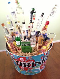 Great idea for Shelby   21 birthday drink tub