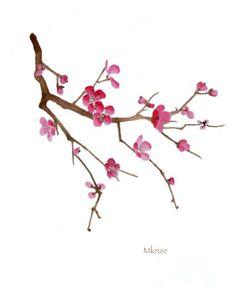 Cherry Blossoms 2c Painting  - Cherry Blossoms 2c Fine Art Print