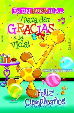 Postales hermosas de cumpleaños para los nonos Giving Thanks To God, Give Thanks, Birthday Wishes, Birthday Cards, Happy Birthday, Happy B Day, Home Interior, Holidays And Events, Dates