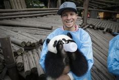 Brian Littrell at Giant Panda Breeding Research Institute in Chengdu, China (May 30th 2013)
