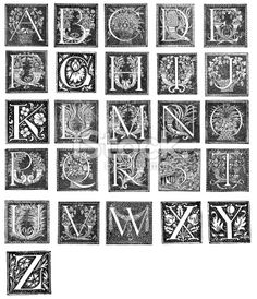 c calligraphy or wood cut initial c old - Google Search