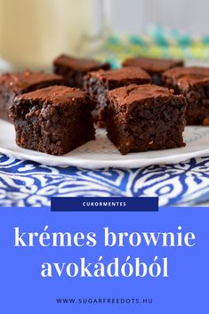 Diet Recipes, Healthy Recipes, Fancy Desserts, Health Eating, Superfood, Brownies, Good Food, Low Carb, Gluten Free