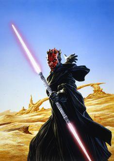 Darth Maul (Ray Park) - Star Wars Episode I: The Phantom Menace Darth Maul, Comic Book Artists, Comic Artist, Comic Books Art, Batman Christian Bale, Star Wars Sith, Clone Wars, Star Trek, Comic Book Companies