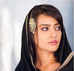 Surbhi Jyoti aka Zoya of popular Indian TV Serial 'Qubool Hai' (w/ Jhoomar on Hair)