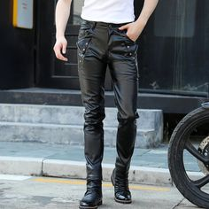 #Mens #Fashion #Regular #Fit #Pure #Black #Leather #Motorcycles #Pants Leather Motorcycle Pants, Mens Leather Pants, Motorcycles, Black Leather, Pure Products, Mens Fashion, Shorts, Fitness, Black Patent Leather