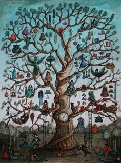The Happy tree by MillerTanya on DeviantArt. Musicians tea pots and a tree. My kinda world.