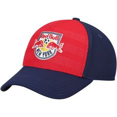 ff39d10d794ea Youth New York Red Bulls adidas Red Navy Authentic Structured Flex Hat