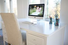 love the old desk painted white