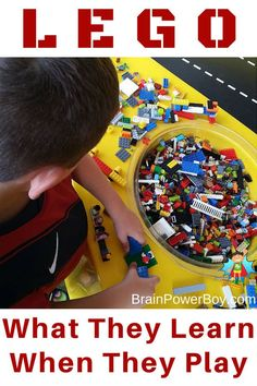 What exactly are kids learning when they play with LEGO? It turns out that they learn a lot! Find out why LEGO is more than just a toy and what they learn while playing. Activities For Boys, Kids Learning Activities, Hands On Activities, Educational Activities, Homeschooling Resources, Play Based Learning, Learning Through Play, Fun Learning, Lego Therapy