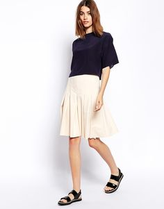 Asos Pleated Skirt on shopstyle.com