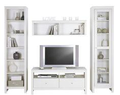Wohnwand Clara in Weiß - Wohnwände - Wohnwände & TV Möbel - Wohnzimmer - Produkte
