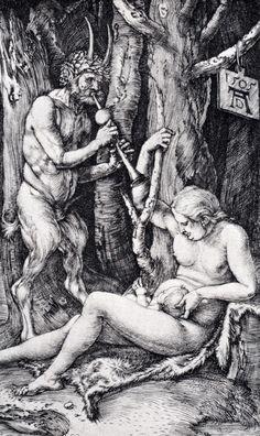 Dürer, Albrecht (1471-1528) - Satyr-Familie, 1505, Kupferstich