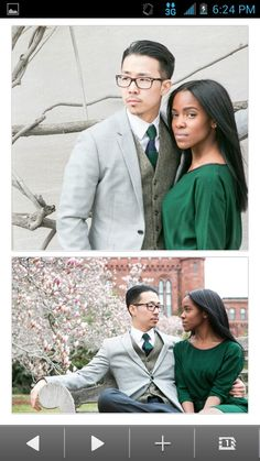 Ambw love ~  Looks like a doc and lawyer  Lovely couple  ♥