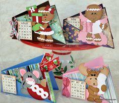 Bingo Gift Card Holders  winter bingo set from The Cutting Cafe! TOO CUTE!!