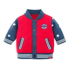 Retail Factory Infant Clothes Red Winter Cotton Padding Baby Coat For Boy Jacket