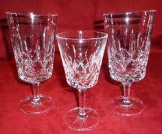 Gorham Crystal King Edward Crystal Stemware Pattern