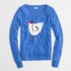 Why do I want this? (I do, but there's about a 3% chance I'll get it.) Factory warmspun intarsia hen sweater