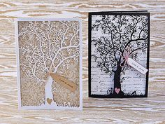 make your own laser cut wedding invitations with tree                                                                                                                                                                                 More