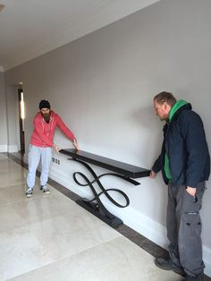 Our guys placing and fitting a Decorus console table at a private residence, Lon. unit decor Plants Our guys placing and fitting a Decorus console table at a private residence, Lon. Foyer Furniture, Welded Furniture, Iron Furniture, Furniture Design, Plywood Furniture, Chair Design, Painted Furniture, Flur Design, Design Design