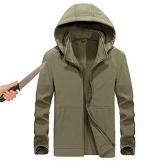 Back To Search Resultsmen's Clothing Nice New Self Defense Tactical Anti Cut Knife Cut Resistant Hooded Jacket Anti Stab Proof Long Sleeved Military Security Jacket Coat
