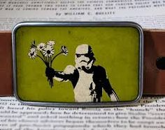 Take these flowers bitch Stormtrooper belt buckle