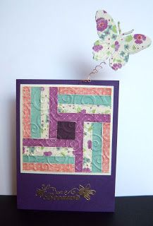 hand crafted quilt card from Shoregirl's Creations: Spring Quilts ...