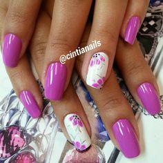 Instagram by _cintianails #nails #nailart #naildesigns Crazy Nails, Love Nails, Girly Things, Girly Stuff, Flower Nail Art, Gorgeous Nails, Short Nails, Beauty Nails, Hair And Nails