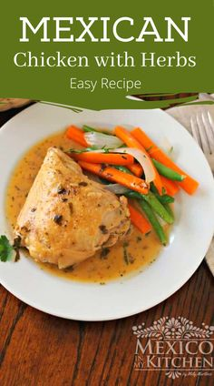 Chicken with fine herbs is a simple but elegant meal. It's full of flavor, but still very easy to put together. Prep Time is only 15 minutes. #easychicken #chickenherbs